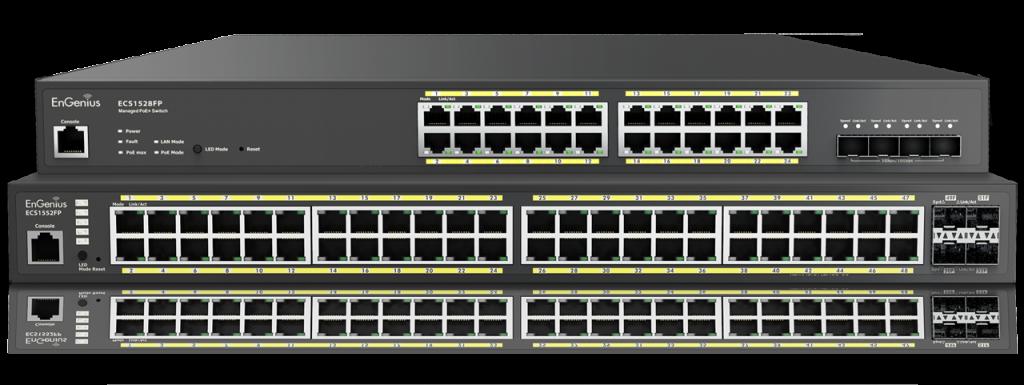 EnGenius network management for surveillance swithces